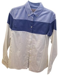 Banana Republic Cute Button Down Shirt Blue and White