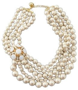 Kate Spade Kate Spade Belle Fleur Pearl Statement Necklace ** BRAND NEW with Tags ** Great Modern Update of Classic Five Strand Pearl Necklace