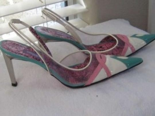 Emilio Pucci Multi colored pastels with silver heels Pumps