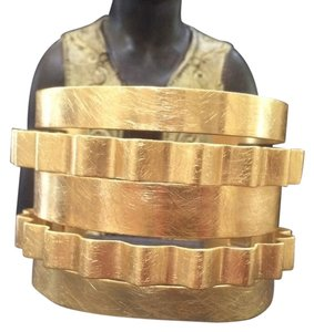 Other Knowles&Co Brushed Gold Art Deco Cuff