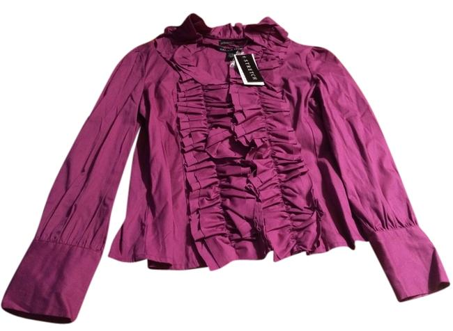 Antilia Femme Button Down Shirt Purple