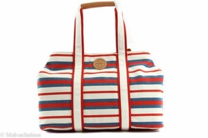 Tory Burch Handbag Canvas Tote in Multi-Color