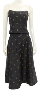 black w/ Rose embroidery Maxi Dress by Shoshanna Sale Bustier A-line Spring