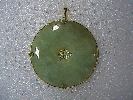 "Vintage 14k Solid Yellow Gold Butterfly "" Good Luck "" Medallion Pendant (item#1)"