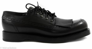 Gucci 358271 Mens Leather Fringed Brogue Lace-up Shoe Black 12.5us