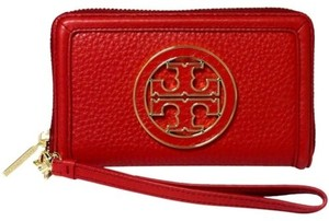 Tory Burch Tory Burchamanda Smartphone Wristlet Wallet Red