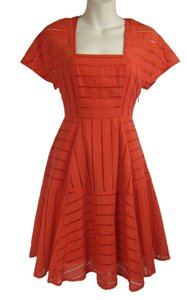 Plenty by Tracy Reese short dress orange Anthropologie Skater on Tradesy