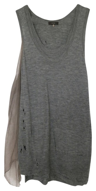 Item - Gray Cashmere Silk Chitton Cocktail Party Drape Knit Sweater Tuni Above Knee Short Casual Dress Size 12 (L)