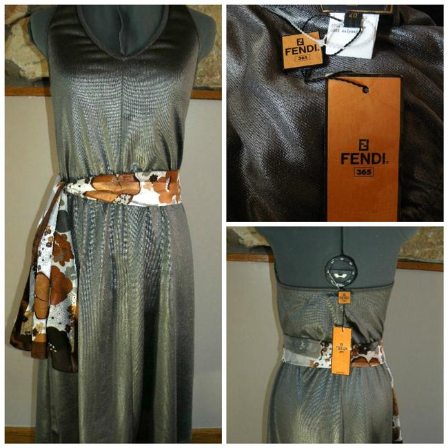 Item - Silver Grey Halter Made In Italy Mid-length Night Out Dress Size 6 (S)