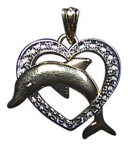 Michael Anthony 14K Yellow & White Diamond Cut Dolphin Pendant
