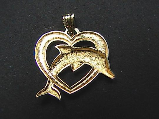 Other Michael Anthony 14K Yellow & White Diamond Cut Dolphin Pendant