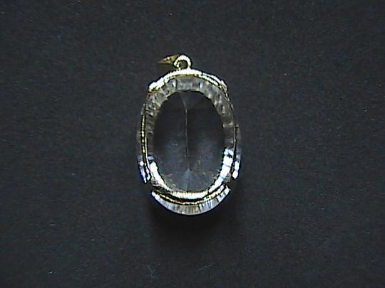 Other 11.0 cts 10k Solid Yellow Gold Huge White Topaz Pendant (#2)