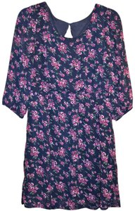 Forever 21 short dress purple Garden Party Girly Floral Button Flower on Tradesy