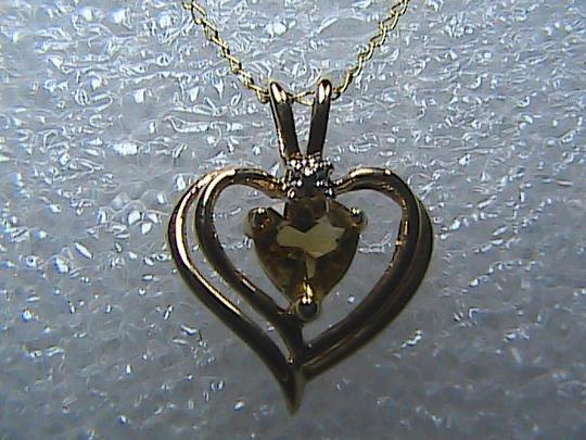 Other 10k Yellow Gold .50 carats Citrine Heart Necklace