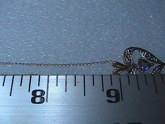 Other 10k Yellow Gold .50 carats Heart Amethyst & Diamond Necklace