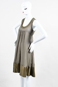 Burberry short dress Green London Olive Silk Sleeveless on Tradesy