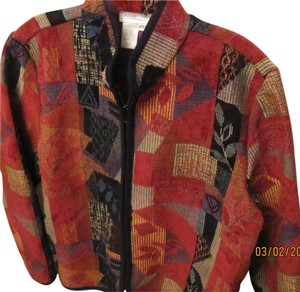 Coldwater Creek Nice Fallesh Colors Jacket Is Light And In Excellent Condition reds brown yellow blue purple multi-colors Blazer