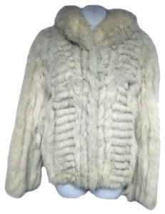 Saga Furs Fox Jacket Fur Silver Cross Pelt Fur Coat