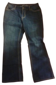 V.A.C Vintage America Collection Embroidery Leg Boot Cut Jeans-Light Wash
