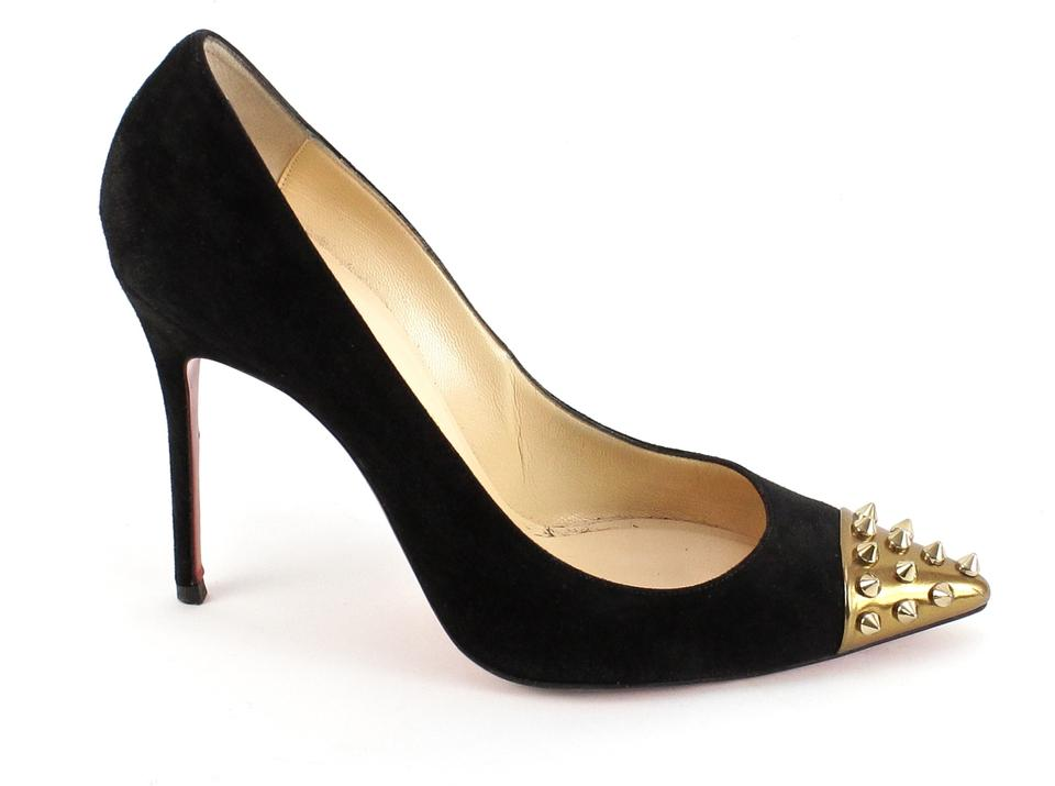 christian louboutin geo spiked cap-toe pumps