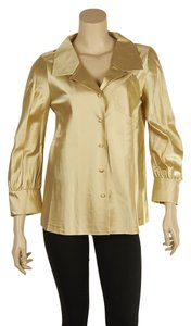 Marc Jacobs Silk Blouse Button Down Shirt Cream