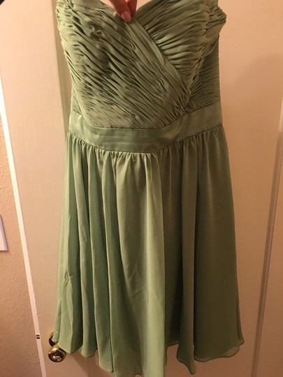 Mori Lee Olive Polyester Formal Bridesmaid/Mob Dress Size 14 (L) Image 0