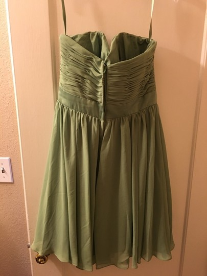 Mori Lee Olive Polyester Formal Bridesmaid/Mob Dress Size 14 (L) Image 1