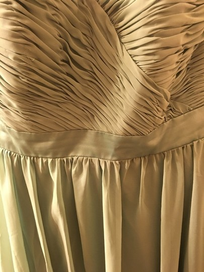 Mori Lee Olive Polyester Formal Bridesmaid/Mob Dress Size 14 (L) Image 2