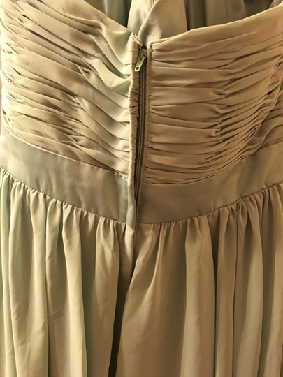 Mori Lee Olive Polyester Formal Bridesmaid/Mob Dress Size 14 (L) Image 3