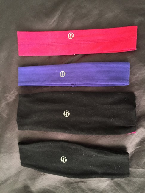 Item - Black Pink and Purple Four Headbands Hair Accessory