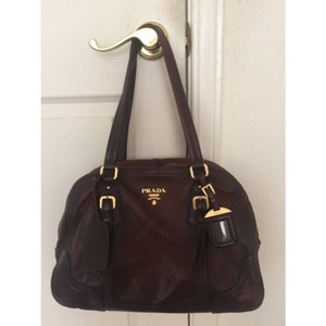 Prada Vintage Deerskin Shoulder Bag