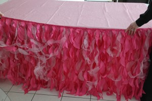3-21 Ft Curly Willow Table Skirts