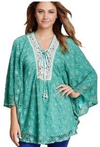 Meghan Cotton Beaded Ties Embroidered Trim Tunic