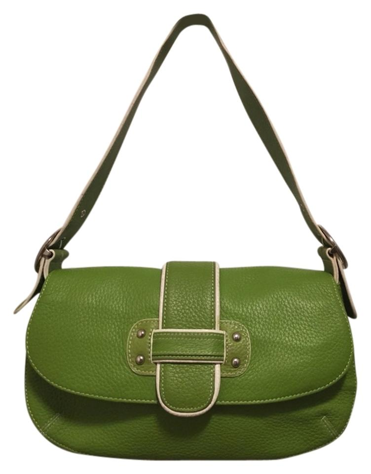 335df4b2a5c8 Franco Sarto Leather Green Shoulder Bag - Tradesy