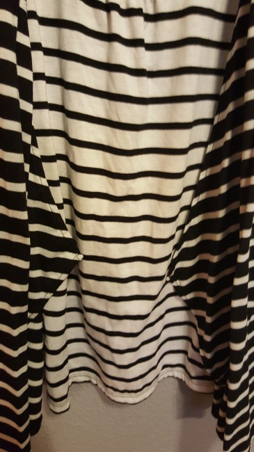 Two Hearts Maternity Black and White Striped Cardigan and Shirt Image 2