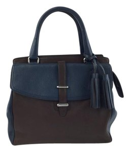 Coach Navy/brown Satchel in Brown/Navy