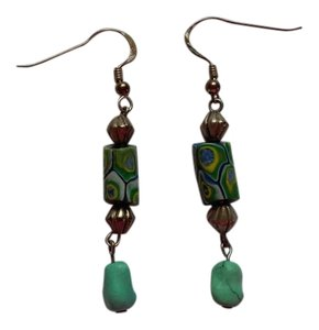 Other Handmade Beaded Pierced Dangle Drop Earrings