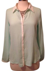 a.n.a. a new approach Button Down Shirt Mint green