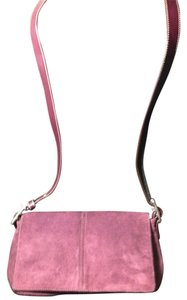 Coach Leather Suede Cross Body Bag