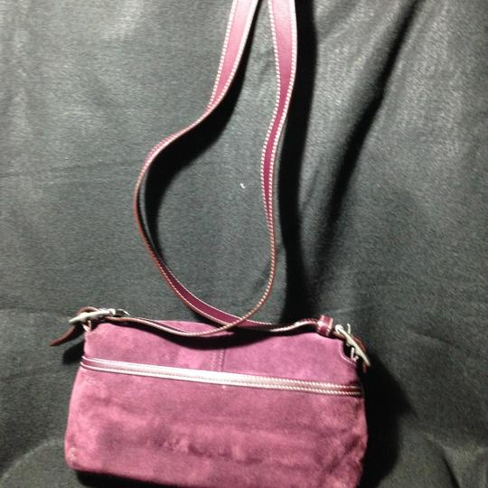 Coach Leather Suede Cross Body Bag Image 1