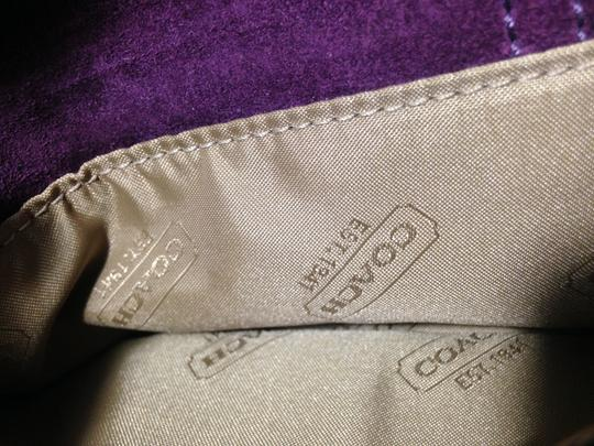 Coach Leather Suede Cross Body Bag Image 4