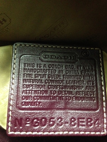 Coach Leather Suede Cross Body Bag Image 6