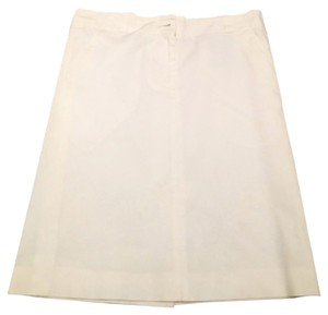 Burberry London Pencil Spring Skirt White