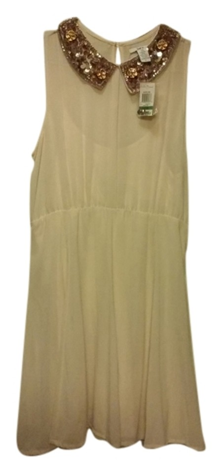Macy\'s Pearl Nude 111 Knee Length Cocktail Dress Size 12 (L) - Tradesy