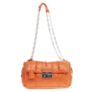 Prada Bomber Flap Leather Shoulder Bag
