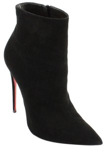 8565790b8e3 Christian Louboutin Black Suede So Kate 100 Leather Ankle 38 Boots/Booties  Size US 8 Regular (M, B)