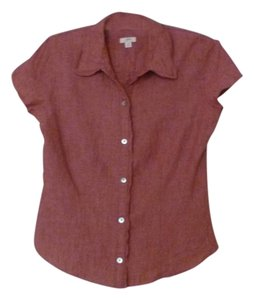 J. Jill Linen Button Down Shirt pink