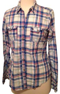 Abercrombie & Fitch Button Down Shirt Plaid pink