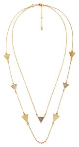Other Gold Triangle Crystal Layer Necklace