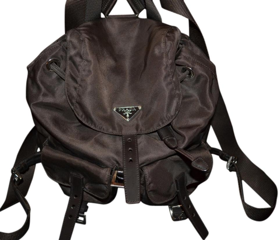 27ac08c215c1 Prada New Lowest Price Lowered From Priced To Sell New Tessuto Backpack Shoulder  Brown Nylon Backpack